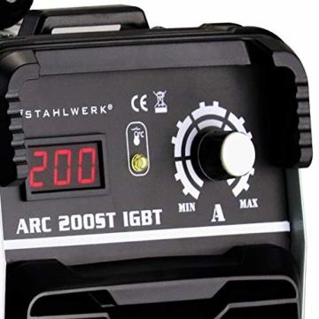STAHLWERK ARC 200 ST IGBT - Schweißgerät DC MMA/E-Hand Welder mit echten 200 Ampere sehr kompakt, weiß, 5 Jahre Herstellergarantie - 2