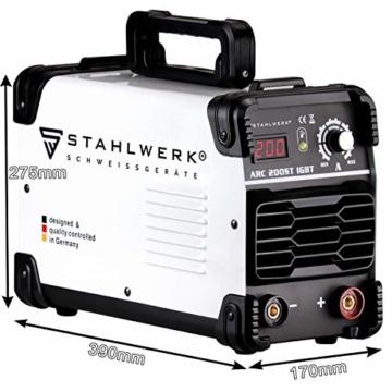 STAHLWERK ARC 200 ST IGBT - Schweißgerät DC MMA/E-Hand Welder mit echten 200 Ampere sehr kompakt, weiß, 5 Jahre Herstellergarantie - 4
