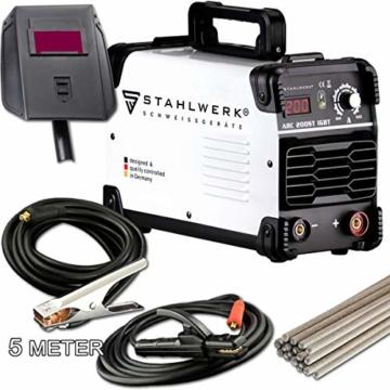 STAHLWERK ARC 200 ST IGBT - Schweißgerät DC MMA/E-Hand Welder mit echten 200 Ampere sehr kompakt, weiß, 5 Jahre Herstellergarantie - 1