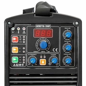 IPOTOOLS ACDCTIG 200P WIG Schweißgerät AC DC Schweissgerät mit 200 Amper Volldigitales Inverterschweißgerät Inkl HF-Zündung, Pulsfunktion, MMA/E-Hand, IGBT - 3