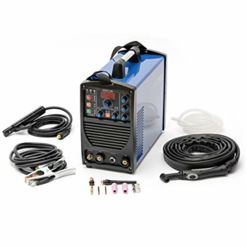 IPOTOOLS ACDCTIG 200P WIG Schweißgerät AC DC Schweissgerät mit 200 Amper Volldigitales Inverterschweißgerät Inkl HF-Zündung, Pulsfunktion, MMA/E-Hand, IGBT - 4