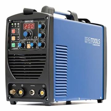 IPOTOOLS ACDCTIG 200P WIG Schweißgerät AC DC Schweissgerät mit 200 Amper Volldigitales Inverterschweißgerät Inkl HF-Zündung, Pulsfunktion, MMA/E-Hand, IGBT - 6