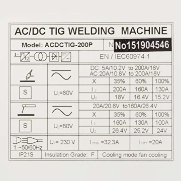 IPOTOOLS ACDCTIG 200P WIG Schweißgerät AC DC Schweissgerät mit 200 Amper Volldigitales Inverterschweißgerät Inkl HF-Zündung, Pulsfunktion, MMA/E-Hand, IGBT - 8
