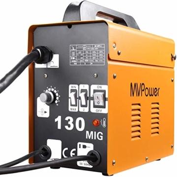 MVPOWER Trafo-Schweißgerät MIG130 Elektrodenschweißgerät Profi Elektroden Schweißmaschine 120A 230V inkl. Draht - 3