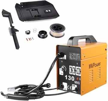 MVPOWER Trafo-Schweißgerät MIG130 Elektrodenschweißgerät Profi Elektroden Schweißmaschine 120A 230V inkl. Draht - 1