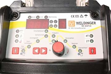 WELDINGER WIG-Schweißgerät WE 202P DC HF-Zündung Puls digitale Steuerung 200 A - 3